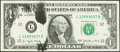 Error Notes:Ink Smears, Fr. 1909-L $1 1977 Federal Reserve Note. Choice CrispUncirculated.. ...