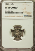 Proof Three Cent Nickels, 1883 3CN PR67 Cameo NGC....