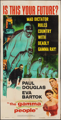 "The Gamma People (Columbia, 1956). Three Sheet (41"" X 80""). Science Fiction"