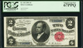 Large Size:Silver Certificates, Fr. 245 $2 1891 Silver Certificate PCGS Superb Gem New 67PPQ.. ...