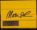 Basketball Collectibles:Others, Magic Johnson Signed Forum Floor Piece....