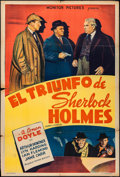 "Movie Posters:Mystery, Murder at the Baskervilles (Monitor Pictures, 1941). ArgentineanOne Sheet (29"" X 43""). Mystery.. ..."