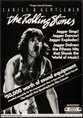 "Movie Posters:Rock and Roll, Ladies and Gentlemen: The Rolling Stones (Dragon Aire, 1973).Exclusive Window Card (14"" X 22""). Rock and Roll.. ..."