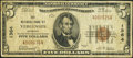 National Bank Notes:Vermont, Vergennes, VT - $5 1929 Ty. 1 The NB of Vergennes Ch. # 1364. ...
