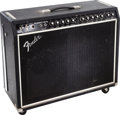Musical Instruments:Amplifiers, PA, & Effects, 1975 Fender Super Twin Black Guitar Amplifier....