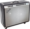 Musical Instruments:Amplifiers, PA, & Effects, 1972 Fender Twin Reverb Black Guitar Amplifier, Serial # A50997....