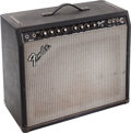 Musical Instruments:Amplifiers, PA, & Effects, 1981 Fender 75 Black Guitar Amplifier, Serial # F100109....