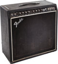 Musical Instruments:Amplifiers, PA, & Effects, 1981 Fender 75 Black Guitar Amplifier, Serial # F063398....