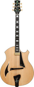 Musical Instruments:Electric Guitars, 2007 Parker PJ14 Natural Archtop Electric Guitar, Serial #G07070661, Weight: 8 lbs....