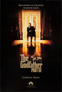 "The Godfather Part III (Paramount, 1990). One Sheets (2) (27"" X 40"", 27"" X 40.25"") DS Advance &a..."