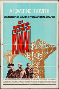 "The Bridge on the River Kwai (Columbia, R-1972). One Sheet (27"" X 41""). War"
