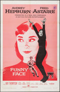 """Movie Posters:Romance, Funny Face (Paramount, 1957). One Sheet (27"""" X 41""""). Romance.. ..."""