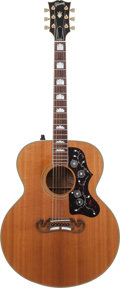 Musical Instruments:Acoustic Guitars, 1991 Gibson J-200 Natural Acoustic Electric Guitar, Serial #90391023....