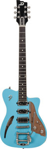 Musical Instruments:Electric Guitars, 2013 Duesenberg Caribou Blue Semi-Hollow Body Electric Guitar,Serial # 122843, Weight: 8.2 lbs....