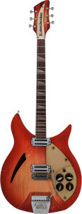 Musical Instruments:Electric Guitars, 1961 Rickenbacker 360 Capri Fireglo Semi-Hollow Body ElectricGuitar, Serial # AF 460, Weight: 8.4 lbs....