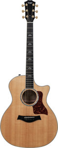 Musical Instruments:Acoustic Guitars, 2008 Taylor 614-CE Natural Acoustic Electric Guitar, Serial #20080115139....