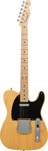 Musical Instruments:Electric Guitars, 2001 Fender '52 Telecaster Butterscotch Solid Body Electric Guitar,Serial # 35594, Weight: 8.2 lbs....