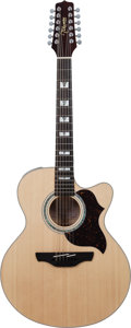 Musical Instruments:Acoustic Guitars, 2010 Takamine EG523 SC-12 Natural 12 String Acoustic ElectricGuitar, Serial # 9100057....