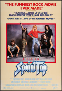 "This is Spinal Tap (Embassy, 1984). One Sheet (27"" X 41""). Rock and Roll"