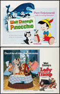 """Movie Posters:Animation, Lady and the Tramp & Other Lot (Buena Vista, R-1955). HalfSheets (3) (22"""" X 28""""). Animation.. ... (Total: 3 Items)"""