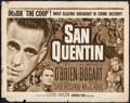 "Movie Posters:Crime, San Quentin (Warner Brothers, R-1950). Half Sheet (22"" X 28"").Crime.. ..."