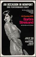 """Movie Posters:Miscellaneous, An Evening with Barbra Streisand at the Festival Field (Triton Gallery, 1966). Concert Window Card (14"""" X 22""""). Miscellaneou..."""