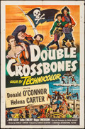 "Movie Posters:Adventure, Double Crossbones (Universal International, 1951). One Sheet (27"" X41""). Adventure.. ..."