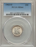 Barber Dimes: , 1903-O 10C MS64 PCGS. PCGS Population (30/16). NGC Census: (29/6). Mintage: 8,180,000. CDN Wsl. Price for problem free NGC/...