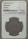 Early Half Dollars: , 1807 50C Draped Bust -- Stained -- NGC Details. NGC Census:(81/329). PCGS Population (142/405). Mintage: 301,076. Numismed...
