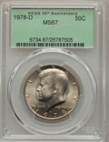 Kennedy Half Dollars, 1978-D 50C MS67 PCGS. PCGS Population (28/0). NGC Census: (8/0).Mintage: 13,765,799. Numismedia Wsl. Price for problem fre...