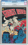 Golden Age (1938-1955):Western, Ghost Rider #1 (Magazine Enterprises, 1950) CGC VF- 7.5 Off-whiteto white pages....