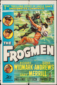 "The Frogmen (20th Century Fox, 1951). One Sheet (27"" X 41""). War"