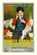 "Movie Posters:Comedy, Triple Trouble (Essanay,1918). One Sheet (28"" X 42"").. ..."