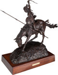 Sculpture, Jim Reno (American, 1929-2008). On the War Path. Bronze with brown patina. 28 inches (71.1 cm) high on a 4 inches (10.2 ...