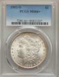 Morgan Dollars: , 1902-O $1 MS66+ PCGS. PCGS Population (624/20 and 80/0+). NGC Census: (595/24 and 19/0+). Mintage: 8,636,000. Numismedia Ws...