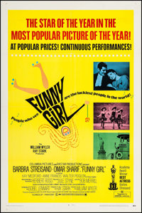 "Funny Girl (Columbia, 1968). One Sheet (27"" X 41"") Academy Award Style. Musical"