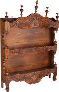 Furniture : French, A French Carved Walnut Shelf, 19th century. 39 h x 30 w x 7 dinches (99.1 x 76.2 x 17.8 cm). ...