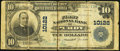 National Bank Notes:Missouri, Purdy, MO - $10 1902 Plain Back Fr. 628 The First NB Ch. # 10122. ...