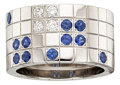 Estate Jewelry:Rings, Diamond, Sapphire, White Gold Ring, Cartier. ...