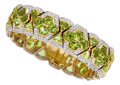 Estate Jewelry:Bracelets, Peridot, Diamond, Gold Bracelet. ...