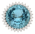 Estate Jewelry:Rings, Aquamarine, Diamond, White Gold Ring, Van Cleef & Arpels. ...