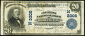National Bank Notes:Wisconsin, Darlington, WI - $20 1902 Plain Back Fr. 650 The Citizens NB Ch. # (M)3308. ...