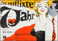"""Movie Posters:Comedy, The Seven Year Itch (Atlas Film, R-1966). German A0 (33"""" X 46.5""""). Comedy.. ..."""