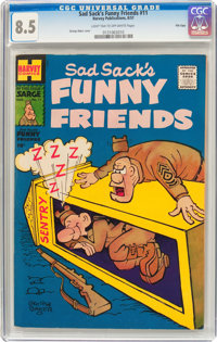Sad Sack's Funny Friends #11 File Copy (Harvey, 1957) CGC VF+ 8.5 Light tan to off-white pages