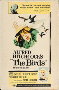 "The Birds (Universal, 1963). Poster (40"" X 60"") Style Y. Hitchcock"