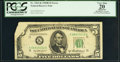 Error Notes:Foldovers, Fr. 1963-K $5 1950B Federal Reserve Note. PCGS Apparent Very Fine20.. ...