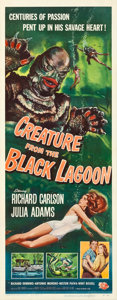 "Movie Posters:Horror, Creature from the Black Lagoon (Universal International, 1954). Insert (14"" X 36"").. ..."