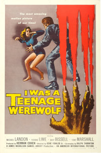 "I Was a Teenage Werewolf (American International, 1957). One Sheet (27"" X 41"")"