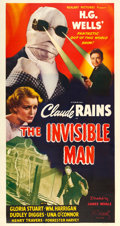 "Movie Posters:Horror, The Invisible Man (Realart, R-1951). Three Sheet (41"" X 76"").. ..."
