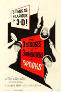 "Movie Posters:Comedy, The Three Stooges in Spooks! (Columbia, 1953). One Sheet (27"" X41"") 3-D Style.. ..."